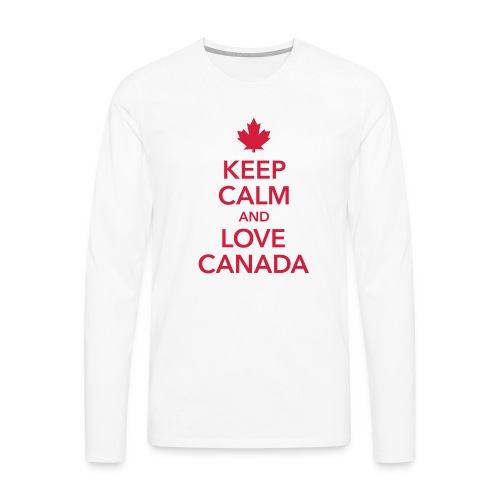 keep calm and love Canada Maple Leaf Kanada - Men's Premium Longsleeve Shirt