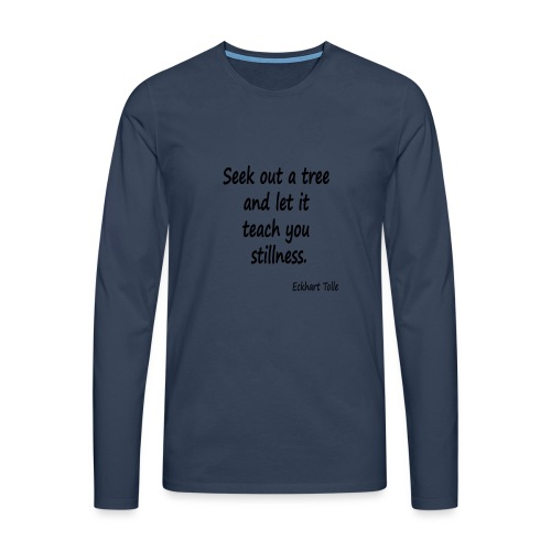 Tree for Stillness - Men's Premium Longsleeve Shirt
