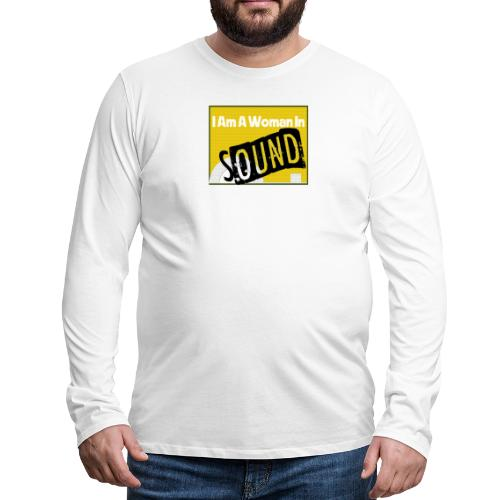 I am a woman in sound - yellow - Men's Premium Longsleeve Shirt