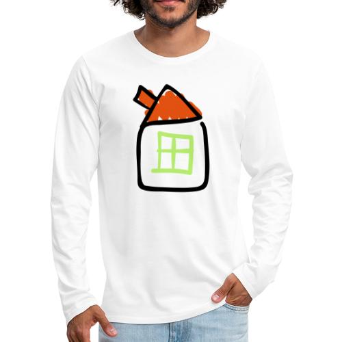 House Line Drawing Pixellamb - Männer Premium Langarmshirt