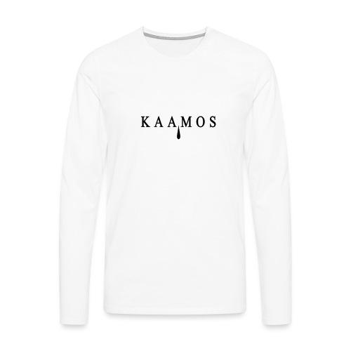 kaamos teksti png - Miesten premium pitkähihainen t-paita