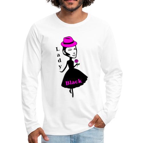 Lady Black Pink - Männer Premium Langarmshirt