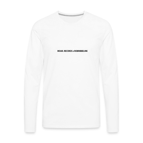 MOAR. Records x RobRibbelink phone case - Men's Premium Longsleeve Shirt