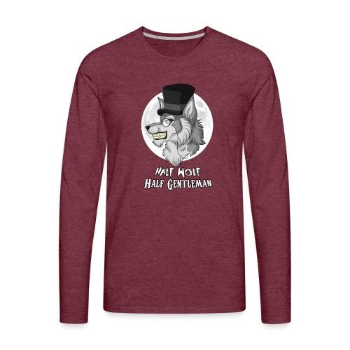 Half Wolf Half Gentleman - Koszulka męska Premium z długim rękawem