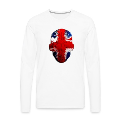 Borg recordings uk Union flag MetaSkull T Shirt - Men's Premium Longsleeve Shirt
