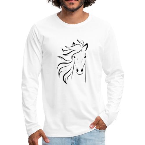 pferd silhouette - Männer Premium Langarmshirt