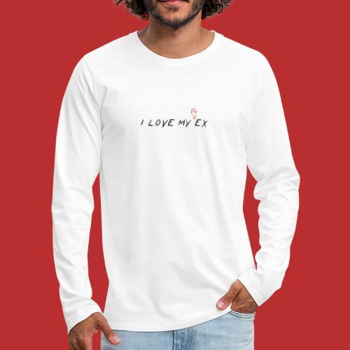 i love my flex not my ex - Maglietta Premium a manica lunga da uomo
