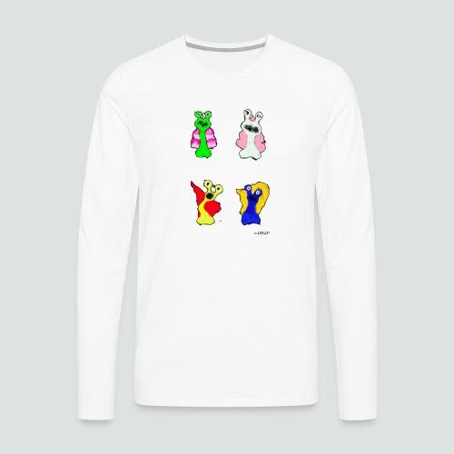 4 Snails 2 png - Männer Premium Langarmshirt