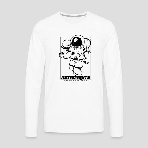 Astronauts loves Beerpong - Männer Premium Langarmshirt