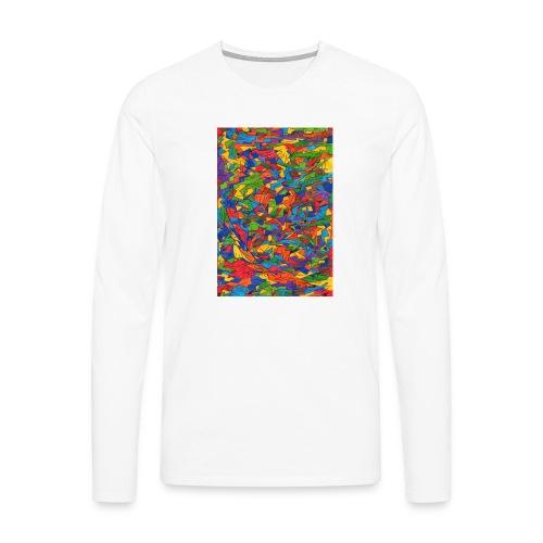 Color_Style - Camiseta de manga larga premium hombre