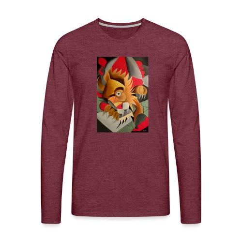 leone - Maglietta Premium a manica lunga da uomo