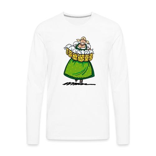 Oktoberfest Bedienung Maßkrüge - Männer Premium Langarmshirt