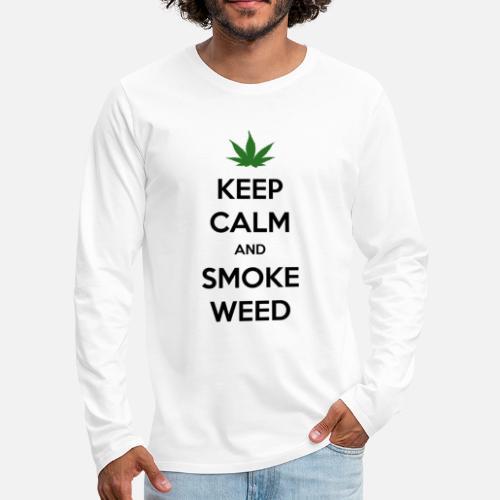 Keep Calm and Smoke Weed (Blijf Kalm en Rook Wiet) - Mannen Premium shirt met lange mouwen