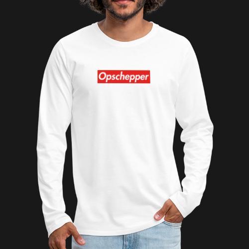 Opschepper Classic (Rood) - Mannen Premium shirt met lange mouwen