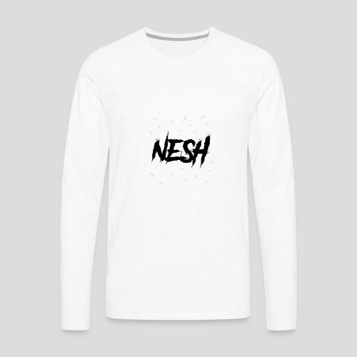 Nesh Logo - Männer Premium Langarmshirt