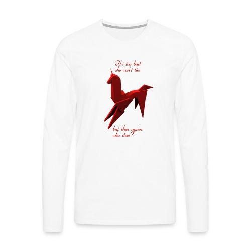 UnicornioBR2 - Camiseta de manga larga premium hombre