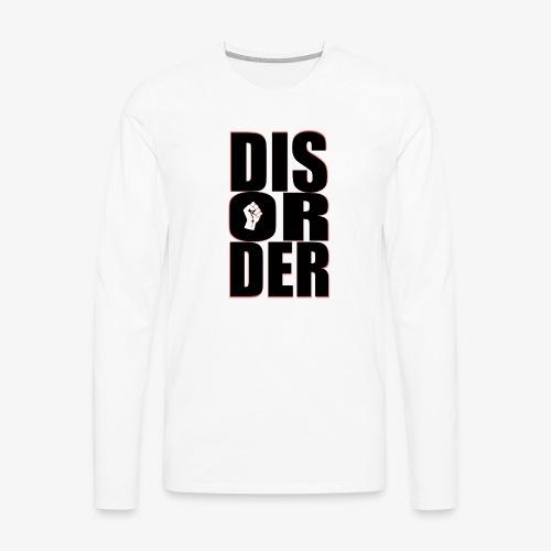 Disorder Logo Schwarz - Männer Premium Langarmshirt
