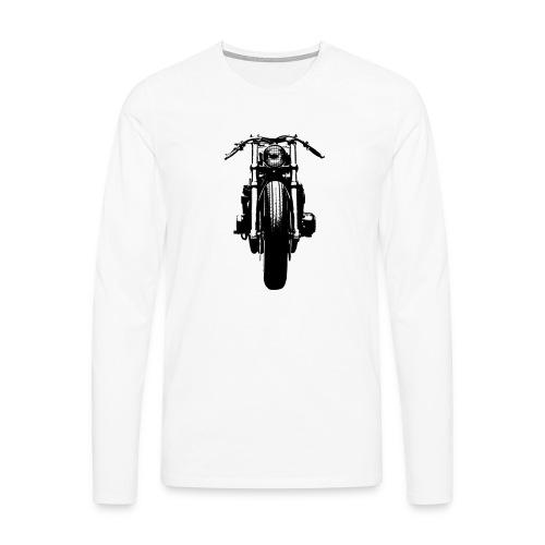 Motorcycle Front - Men's Premium Longsleeve Shirt