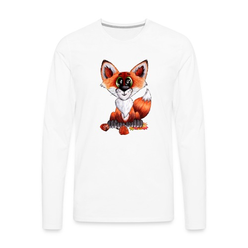 llwynogyn - a little red fox - Männer Premium Langarmshirt