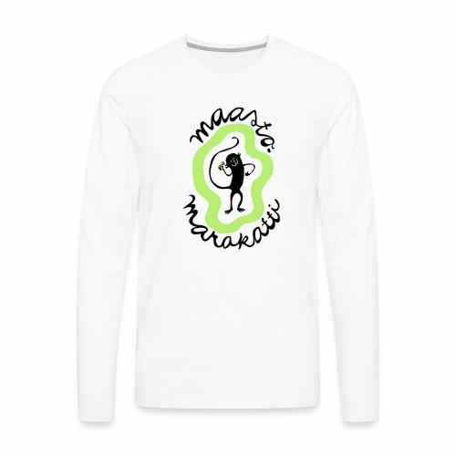 Maastomarakatti - Miesten premium pitkähihainen t-paita