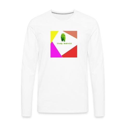 Study Android - Camiseta de manga larga premium hombre