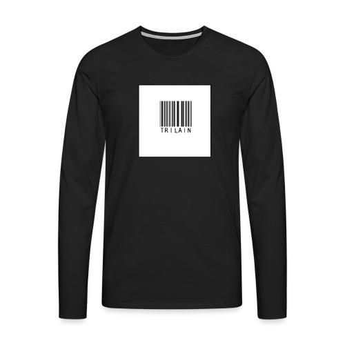 Trilain - Standard Logo T - Shirt - Mannen Premium shirt met lange mouwen