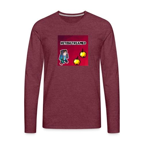 Logo kleding - Mannen Premium shirt met lange mouwen