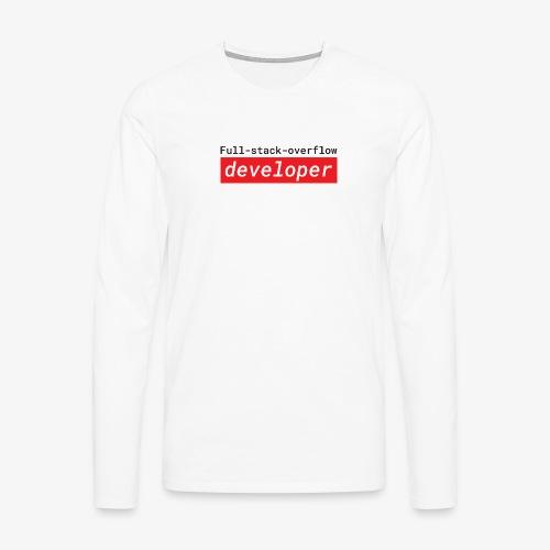 Full stack overflow developer | programmer jokes - Men's Premium Longsleeve Shirt