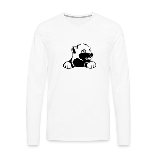 ijsbeer shirt - Mannen Premium shirt met lange mouwen