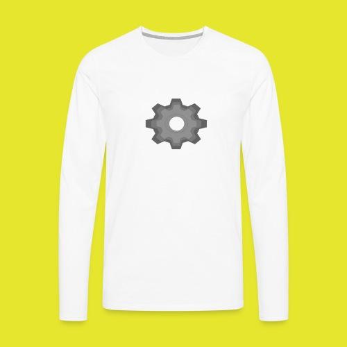 kugghjul - Långärmad premium-T-shirt herr