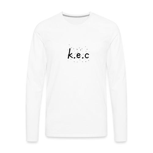 K.E.C basball t-shirt - Herre premium T-shirt med lange ærmer