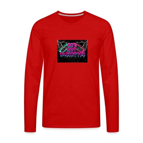 get wet cassettes - Miesten premium pitkähihainen t-paita