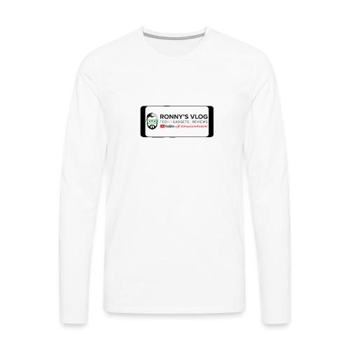 Galaxy S8 by Ronny's Vlog - Männer Premium Langarmshirt