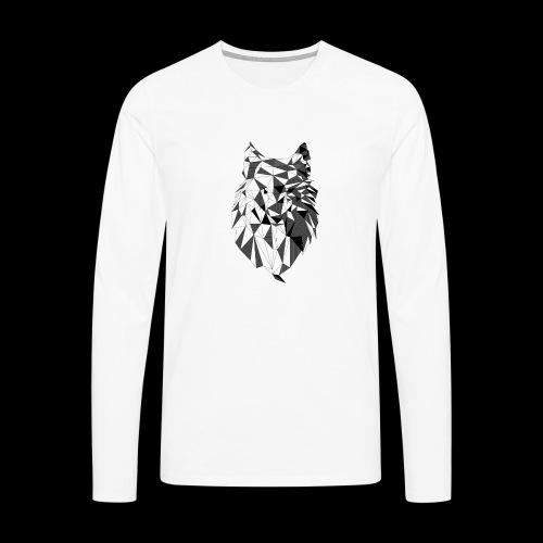 Polygoon wolf - Mannen Premium shirt met lange mouwen