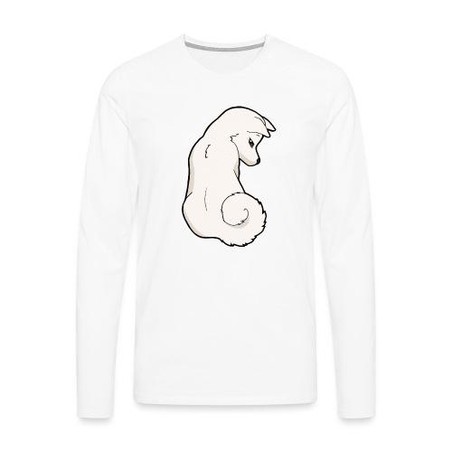 Akita bianco - Maglietta Premium a manica lunga da uomo