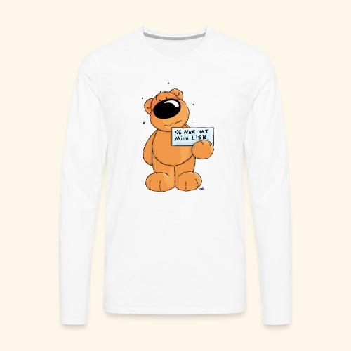 chris bears Keiner hat mich lieb - Männer Premium Langarmshirt