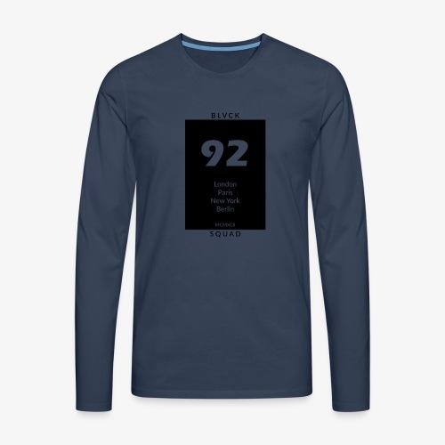 BLVCK SQUAD - Männer Premium Langarmshirt