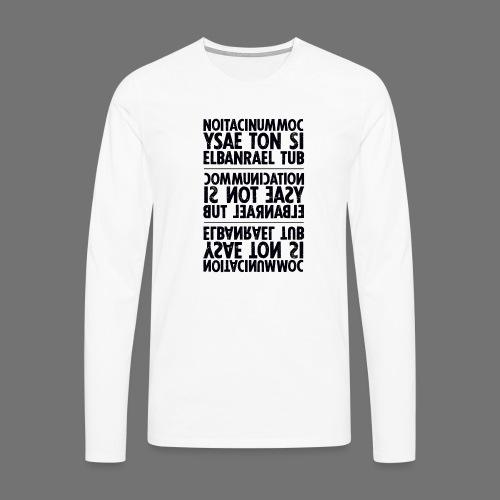 viestintä musta sixnineline - Miesten premium pitkähihainen t-paita