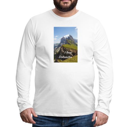 Naturpark Puez Geisler - Männer Premium Langarmshirt