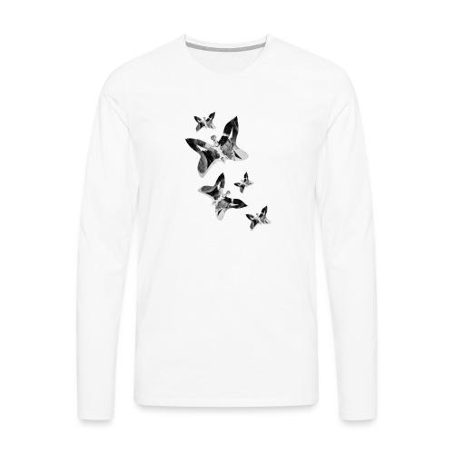 Schmetterlinge - Männer Premium Langarmshirt