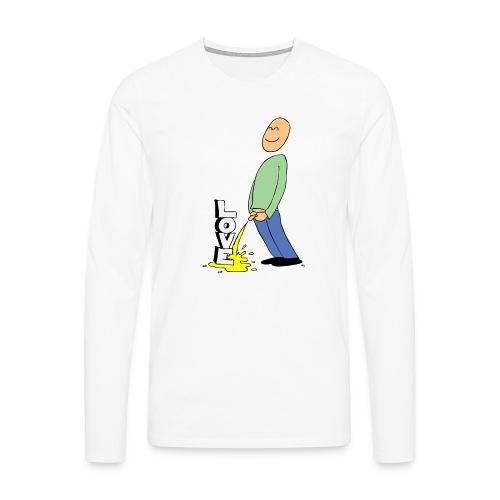 tissekopp farge - Premium langermet T-skjorte for menn