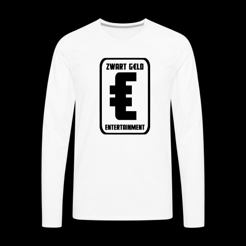 ZwartGeld Logo Sweater - Mannen Premium shirt met lange mouwen