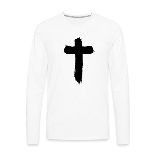 Brushed-Cross - Männer Premium Langarmshirt
