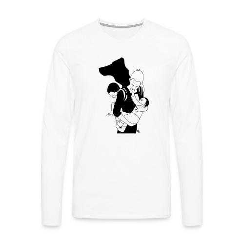 Babycarrying Super Hero Mom 05 - Långärmad premium-T-shirt herr