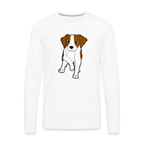 Breton bianco rosso - Maglietta Premium a manica lunga da uomo