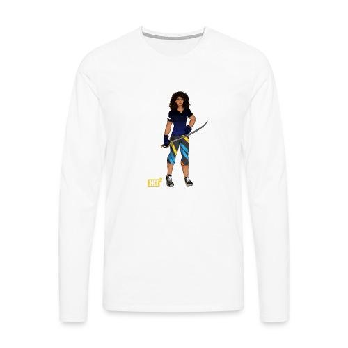 Sabre fencer - Men's Premium Longsleeve Shirt