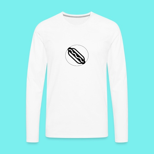 Hotdog logo - Herre premium T-shirt med lange ærmer