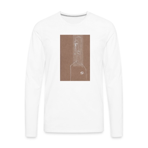 Face_Phone - Långärmad premium-T-shirt herr