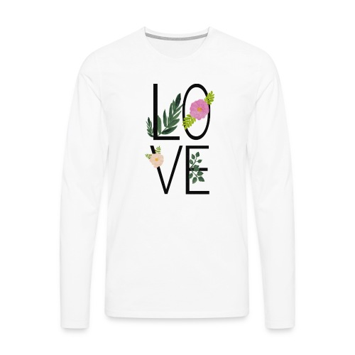 Love Sign with flowers - Men's Premium Longsleeve Shirt