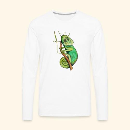 green chameleon - Maglietta Premium a manica lunga da uomo